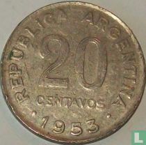Argentinië 20 centavos 1953