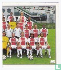 Ajax groepsfoto rechts