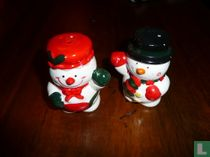 Peper en zoutstel - Sneeuwpop echtpaar