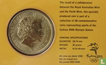 "Australia 5 dollars 2000 (coincard) ""Summer Olympics in Sydney - Badminton"""