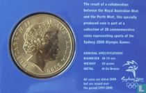 "Australia 5 dollars 2000 (coincard) ""Summer Olympics in Sydney - Taekwondo"""