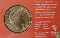 """Australia 5 dollars 2000 (coincard) """"Summer Olympics in Sydney - Table Tennis"""""""