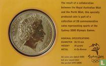 "Australia 5 dollars 2000 (coincard) ""Summer Olympics in Sydney - Fencing"""