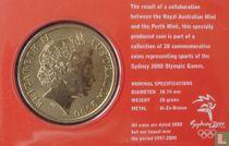 "Australia 5 dollars 2000 (coincard) ""Summer Olympics in Sydney - Wrestling"""