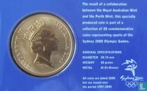 "Australia 5 dollars 2000 (coincard) ""Summer Olympics in Sydney - Sailing"""