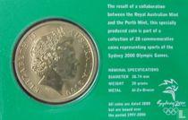 """Australia 5 dollars 2000 (coincard) """"Summer Olympics in Sydney - Handball"""""""
