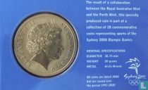 "Australia 5 dollars 2000 (coincard) ""Summer Olympics in Sydney - Modern Pentathlon"""