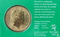 "Australia 5 dollars 2000 (coincard) ""Summer Olympics in Sydney - Tennis"""