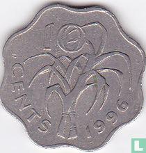 Swaziland 10 cents 1996