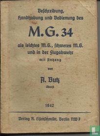 Beschreibung, Handhabung und Bedienung des M.G. 34