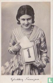 Gelukkig Nieuwjaar - Vrouw met scheurkalender