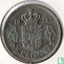 Denemarken 5 kroner 1978