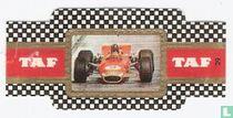 Lotus 49 Won in 1969 voor de vierde keer de Grand Prix in Monaco  rijder Graham Hill