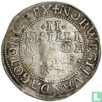 Denemarken 2 skilling 1557