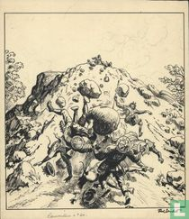 Corentin buitentekst plate album 2 + cover magazine Tintin 1st vintage