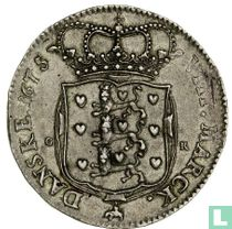 Denemarken 2 kroner 1675 (vlakke grond)
