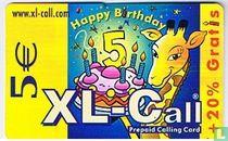 XL-Call giraf met taart