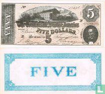 5 dollar confederate paper money REPLICA bill