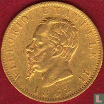 Italië 20 lire 1862