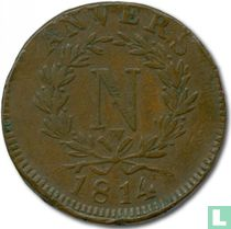 Antwerpen 10 centimes 1814 (W)