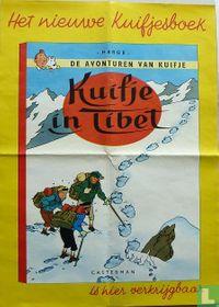 Kuifje in Tibet promotie winkelposter