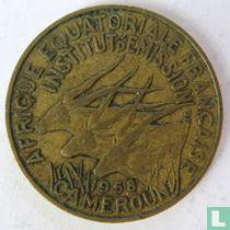 Cameroon 10 francs 1958