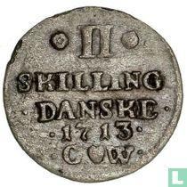 Denemarken 2 skilling 1713