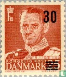 King Frederick IX with overprint