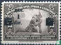 Postzegels van 1921 met afdrukken