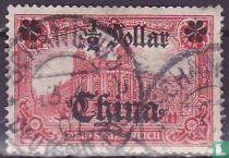 Germania inschrift DEUTSCHES REICH, met opdruk