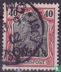 Germania inschrift REICHSPOST, met opdruk