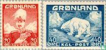 King Christian X and polar bear