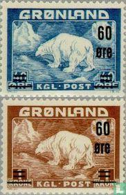 Polar bear, with imprint