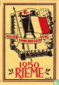 Gulden Sporenherdenking 1950 Rieme