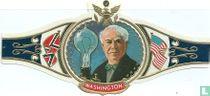 Edison met zyn eerste electrishe lamp