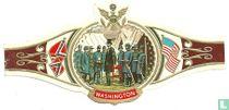 President Lincoln te midden van zijn generaals