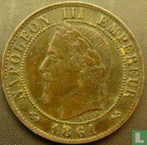 Frankrijk 1 centime 1861 (K)