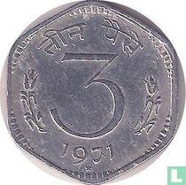 India 3 paise 1971 (Hyderabad)