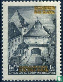 Joegoslavische postzegels met opdruk