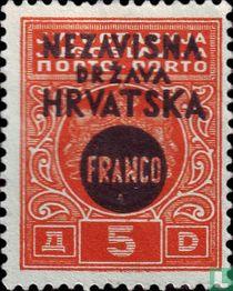 Portzegel, met opdruk FRANCO