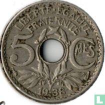 Frankrijk 5 centimes 1938 (zonder punten)