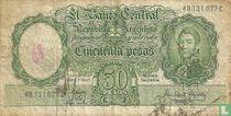 Argentinië 50 Pesos 1954