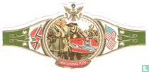 Veteranen van Generaal Lee rollen mistroostig hun vlag op