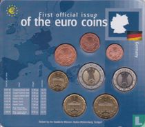 """Duitsland jaarset 2002 (F) """"First official issue of the euro coins"""""""