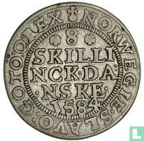 Denemarken 8 skilling 1584