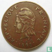 Frans-Polynesië 100 francs 1998