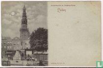 Leiden - Zeevischmarkt en Stadshuis Toren
