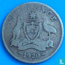 Australië 6 pence 1920