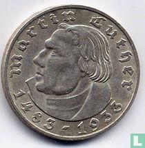"Duitse Rijk 2 reichsmark 1933 (A) ""450th Anniversary of Martin Luther"""