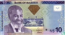 Namibia 10 Namibia Dollars 2012